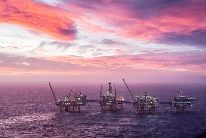 Le gisement pétrolier offshore Johan Sverdrup opéré par la compagnie Norvégienne Equinor, en mer du Nord, le 7 janvier.