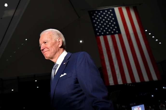 «Nous battrons Donald Trump, nous rassemblerons ce pays », a déclaré Joe Biden à Philadelphie alors qu'il est en passe de remporter trois Etats sur six face à Bernie Sanders, mardi 10 mars.