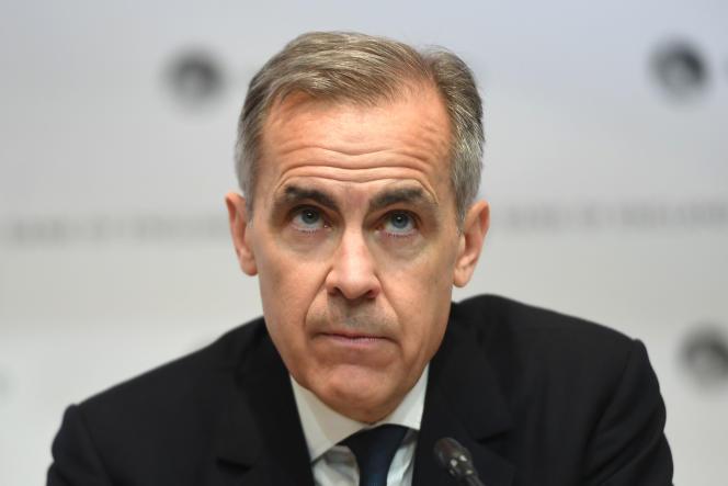 Le gouverneur sortant de la Banque d'Angleterre, Mark Carney, à Londres, le 11 mars.