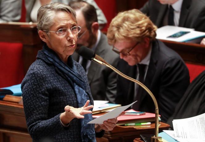 La ministre de la transition écologique et solidaire, Elisabeth Borne, à l'Assemblée nationale, à Paris, le 25 février.