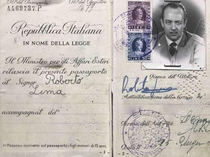 L'un des faux passeport de Raimondo Lanza di Trabia.