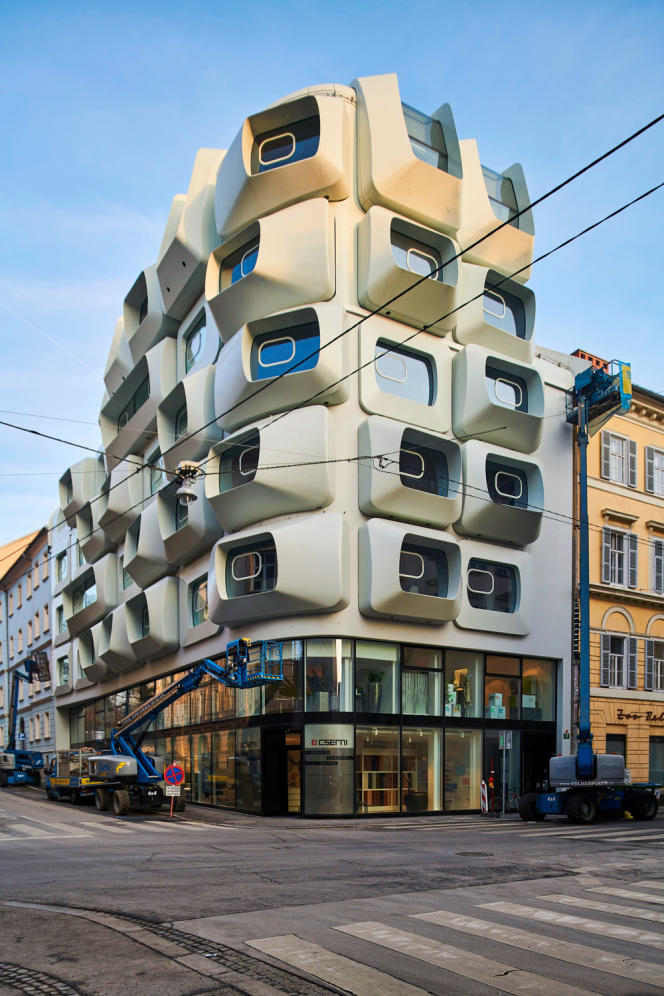 L'immeuble Argos, un des derniers projets menés par l'architecte Zaha Hadid.