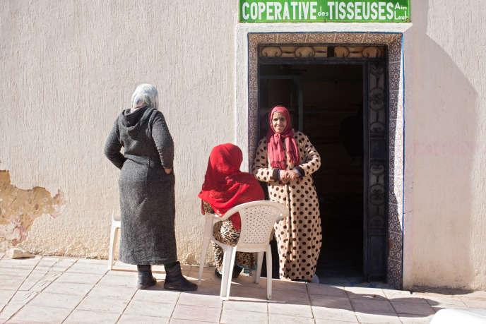 Les femmes de la coopérative, le 27 janvier, à Aïn Leuh, dans le nord du Maroc.
