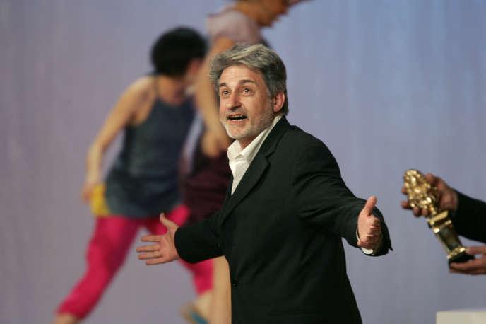 Didier Bezace, lors de la cérémonie des Molières au Théâtre Mogador à Paris, en mai 2005.