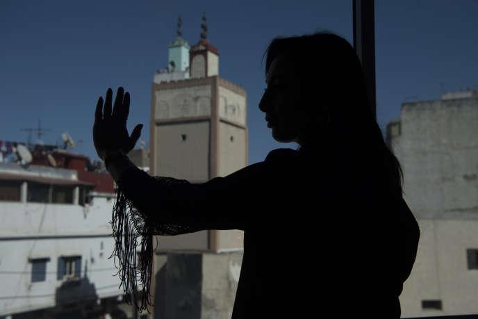 Loubna, 27ans, victime de cyberharcèlement, à Casablanca, le 9mars 2020.