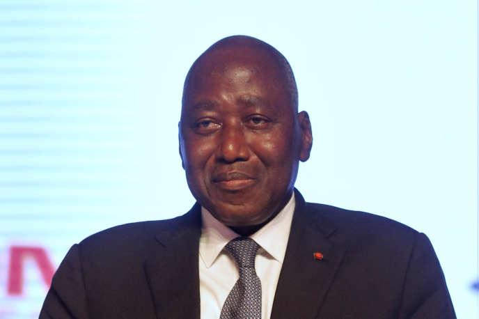 Le premier minisitre ivoirien, Amadou Gon Coulibaly, lors de sa désignation comme candidat du RHDP à l'élection présidentielle, à Abidjan, le 12mars 2020.
