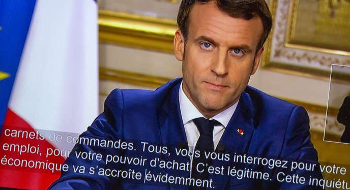 Les imperfectionsdans les sous-titres du discours d'Emmanuel Macron, jeudi 12mars, ont décontenancé et fait réagir réagir de nombreux téléspectateurs.
