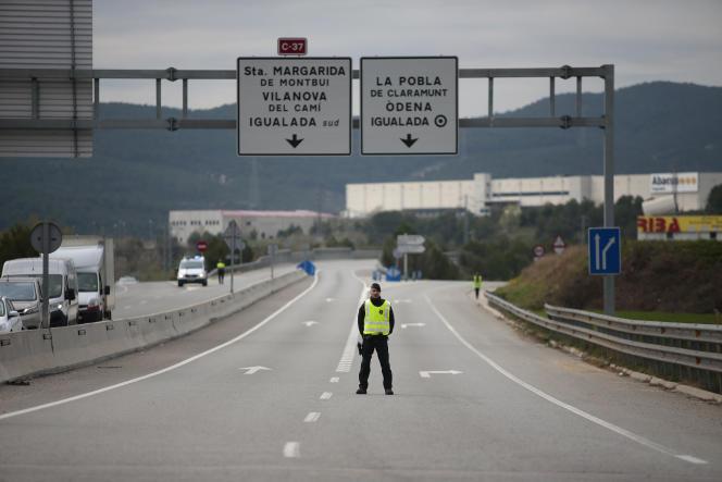 En Catalogne, la ville d'Igualada a été confinée, vendredi 13 mars.