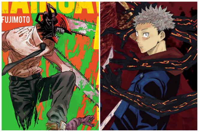 Aperçu des mangas« Chainsaw Man» et« Jujutsu Kaisen».