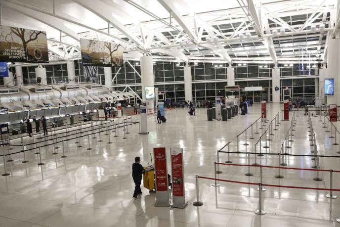 A l'aéroport international John-F.-Kennedy de New York, le 13mars.