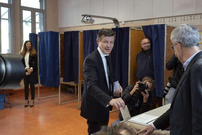 Le maire de Bordeaux, Nicolas Florian, dimanche 15mars.