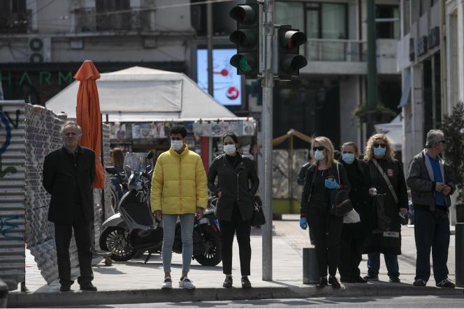 A Athènes, le 15 mars.