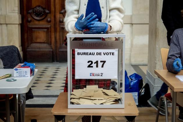 Premier tour des élections municipales et métropolitaines à Lyon, le 15 mars 2020.