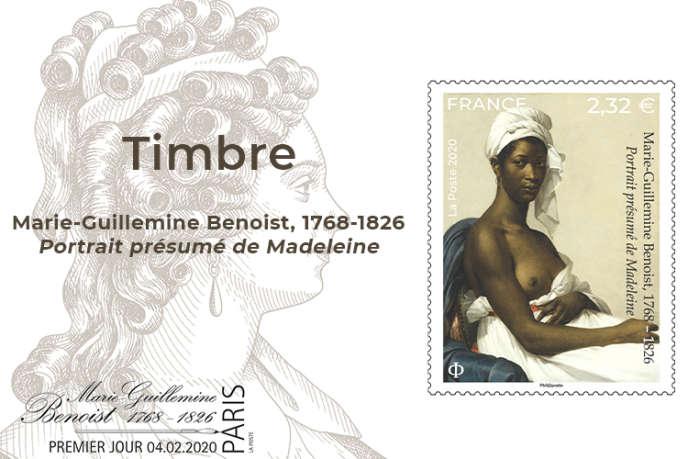 « Portrait présumé de Madeleine», timbre édité en février.