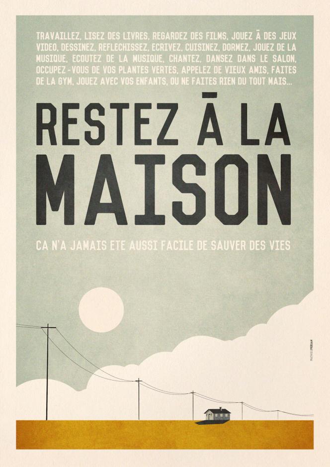 L'affiche de Mathieu Persan dans sa version française.