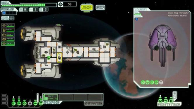 « Faster Than Light », jeu de vaisseaux galactiques.
