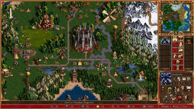 « Heroes of Might & Magic III», jeu de stratégie.
