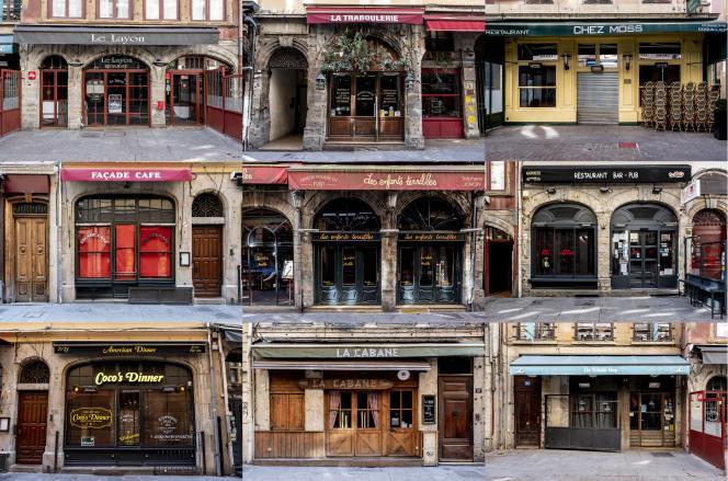 Dimanche 15 mars, rue Mercière, à Lyon, les restaurants sont fermés.