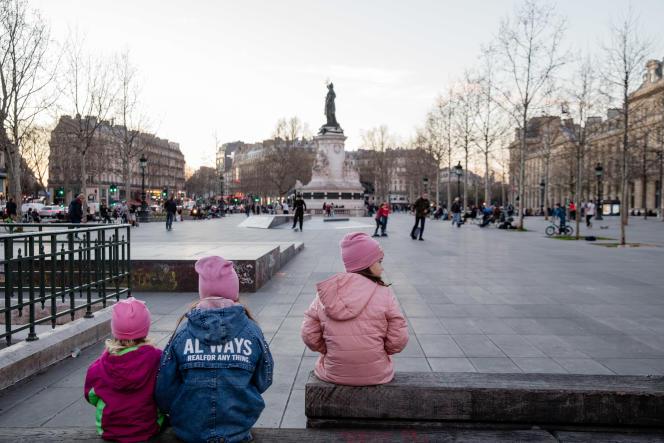 Place de la République à Paris, le 15 mars.