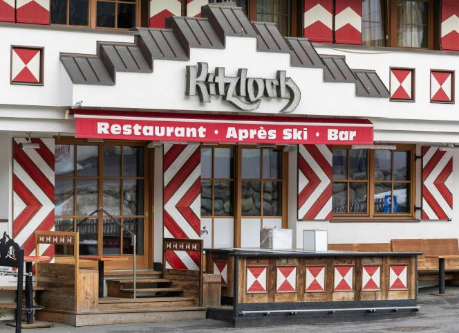 Le bar « après-ski» Kitzloch fermé dans le cadre de mesures contre l'épidémie de Covid-19, dans la station d'Ischgl en Autriche, le 13 mars.