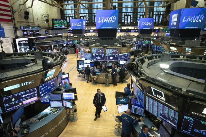 A la Bourse de New York, le 13 mars.