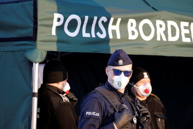 A la frontière entre l'Allemagne et la Pologne, le 17 mars 2020.