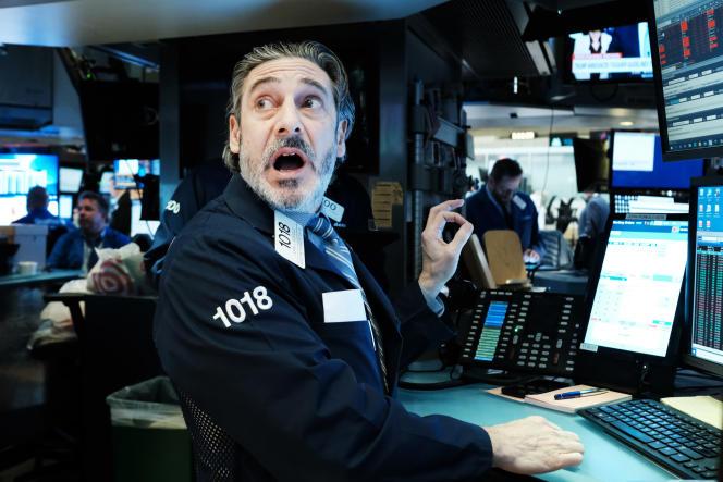A la Bourse de New York, lundi 16 mars.