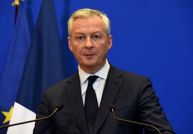 le ministre français de l'économie et des finances, Bruno Le Maire, lors d'une conférence de presse à Paris, le 9 mars.