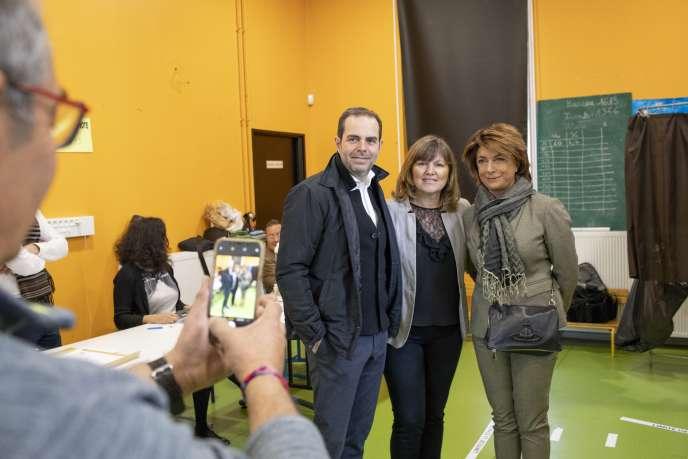 Martine Vassal, candidate Les Républicains, lors du premier tour des élections municipales, à Marseille, le 15 mars.