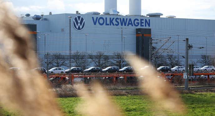 Usine Volkswagen à Zwickau (Allemagne), le 25 février 2020.