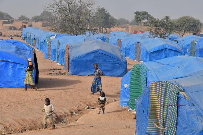 Un camp de personnes déplacées à Pissila, au Burkina Faso, le 24 janvier 2020.