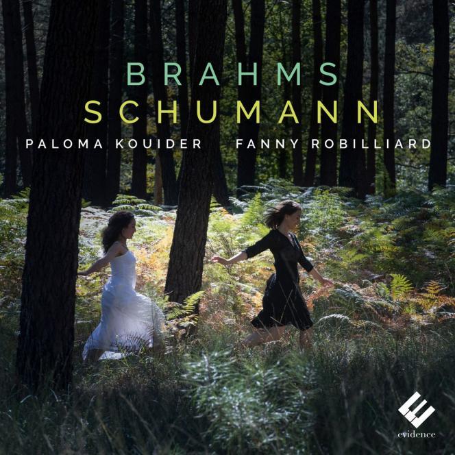 Pochette de l'album« Brahms-Schumann», parFanny Robilliard (violon) et Paloma Kouider (piano).