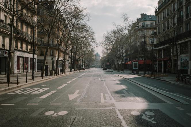 Boulevard deSébastopol, à Paris, le 17 mars.