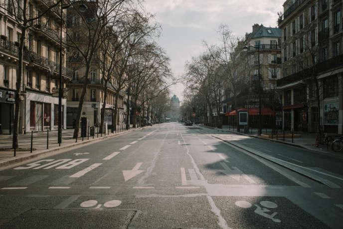 Le boulevard Sébastopol, à Paris, mardi 17 mars.