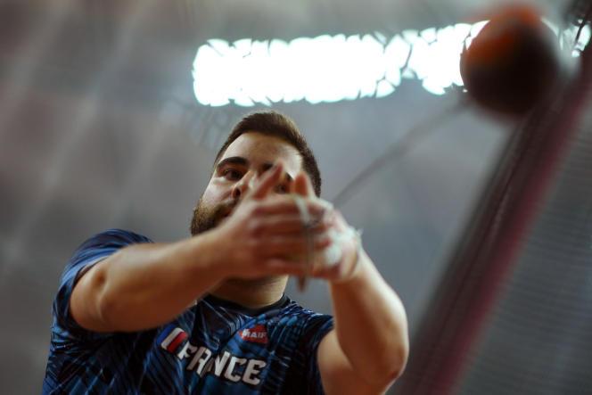 Le lanceur de marteau français Quentin Bigot, le 2 octobre 2019 à Doha.