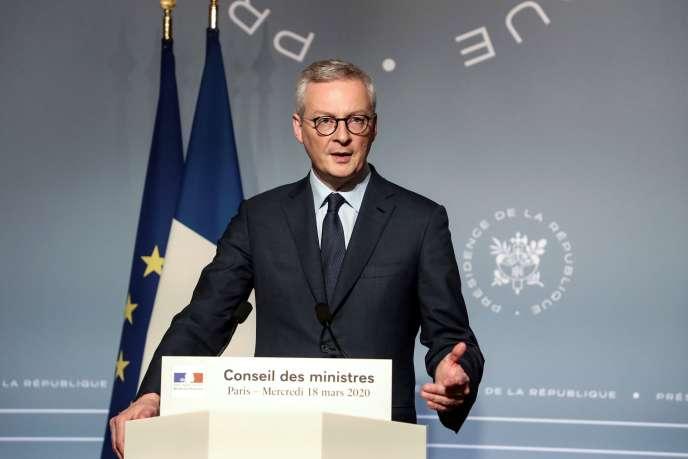 Bruno Le Maire, ministre de l'économie et des finances, mercredi 18 mars.