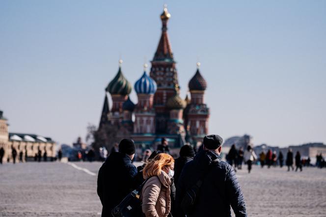 Sur la place Rouge à Moscou, le 17 mars.