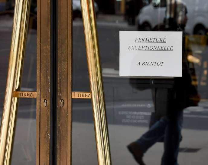 A Paris, le 16 mars 2020.