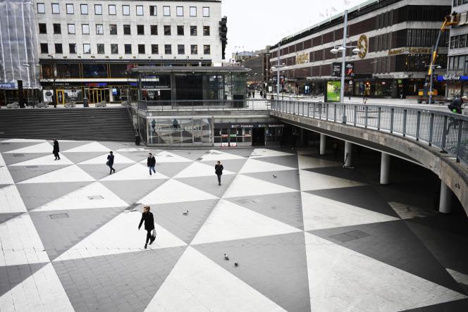 Le centre de Stockholm, mardi 17 mars.