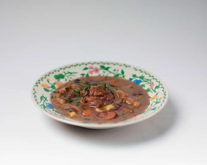 La soupe de haricots rouges jamaïcaine.