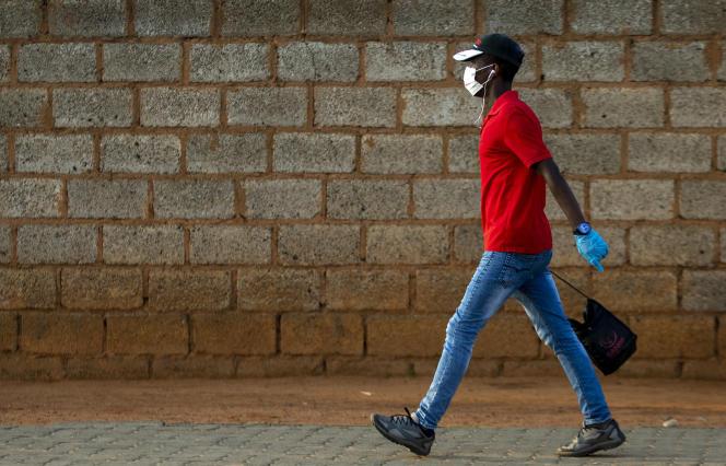 A Soweto, en Afrique du Sud, le 19 mars 2020.