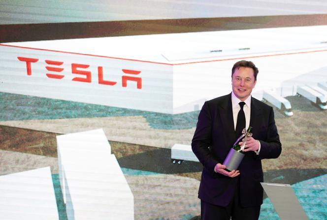 Le patron de Tesla, Elon Musk, à Shanghaï, le 7 janvier.
