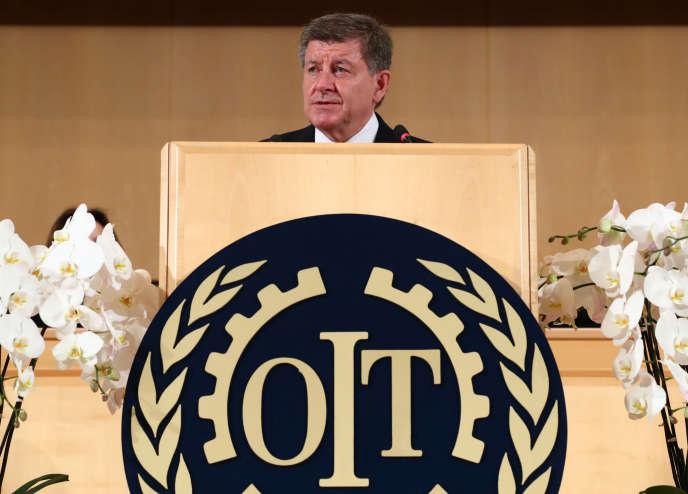 Le directeur général de l'Organisation internationale du travail (OIT), Guy Ryder, à Genève (Suisse), en juin 2019.