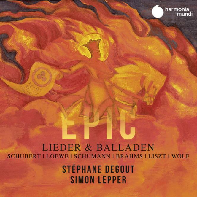 Pochette de l'album« Epic», deStéphane Degout (baryton), Simon Lepper (piano).
