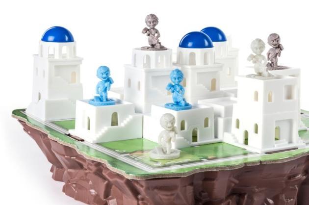 Le plateau en 3D de «Santorini».
