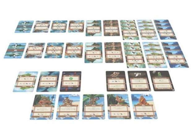 Les cartes de «Palm island».