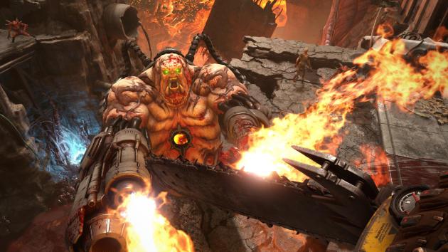 Plus encore que le« Doom» de 2016,« Eternal» est un jeu misant beaucoup sur la verticalité et obligeant à user et abuser des sauts et des projections.
