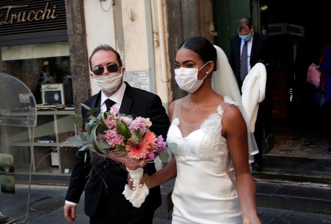 Mariage à Naples, le 20 mars 2020.