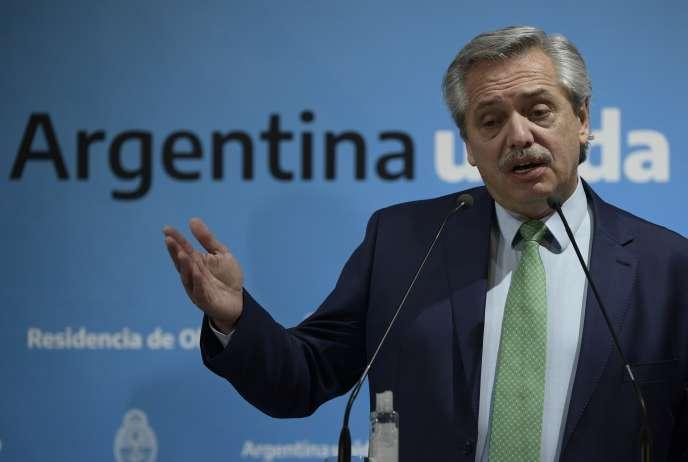 Le président argentin Alberto Fernandez, à Buenos Aires, le 19 mars.