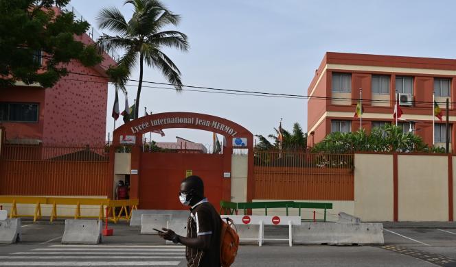 Le lycée international Jean-Mermoz, à Abidjan, déserté par ses élèves et professeurs, le 17mars 2020.